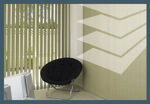 Interior Blinds and Shutters - Vertical Pleated